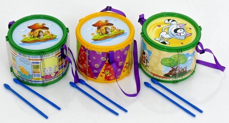 Детская игрушка барабан большой 1-004