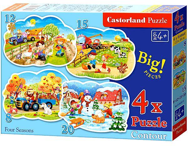 Пазлы Castorland 4х1(8,12,15,20)   043019