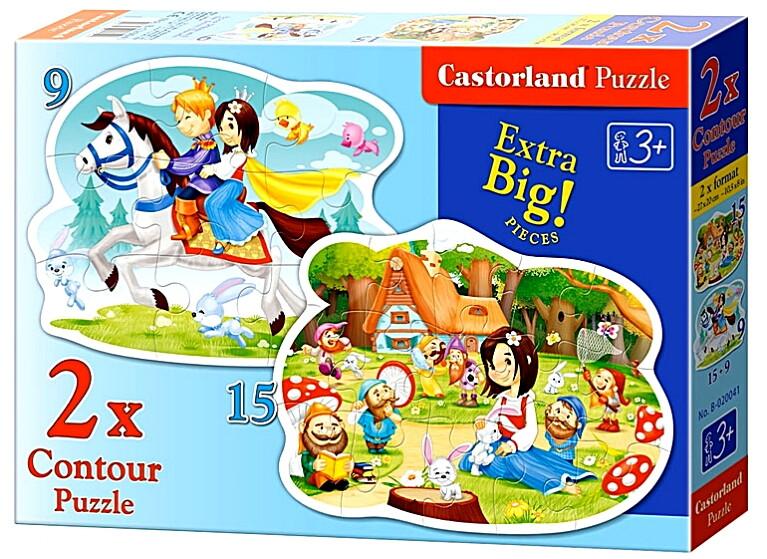 Пазлы Castorland 2хContour (9,15)    020041