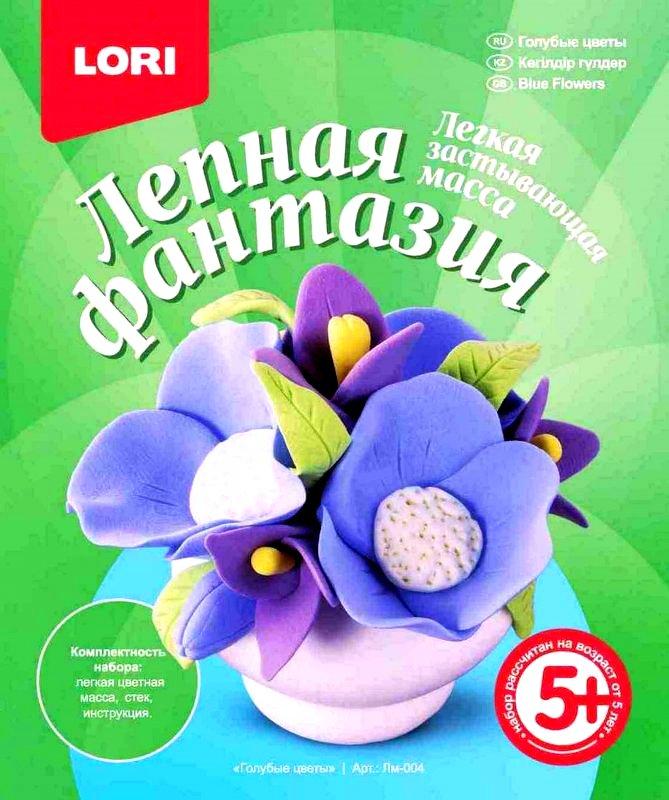 """Лепная фантазия """"Голубые цветы"""" Лм-004"""