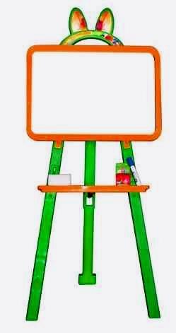 Доска для рисования артикул 013777 оранжево/салатовый