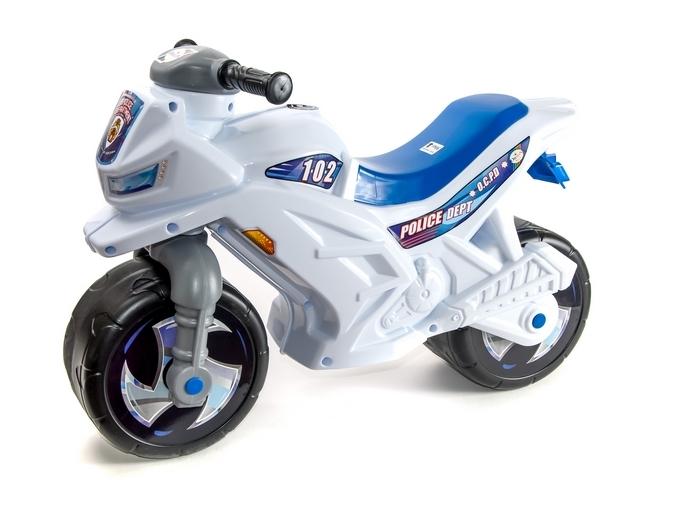 Мотоцикл 2-х колесный в пакете  БЕЛЫЙ  501