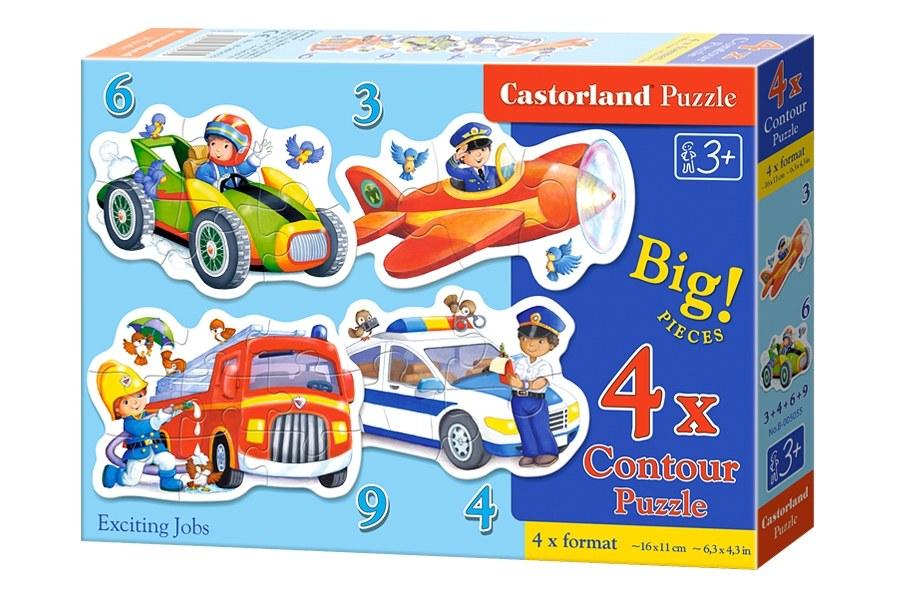 Пазлы Castorland 4х1(3,4,6,9) 005055