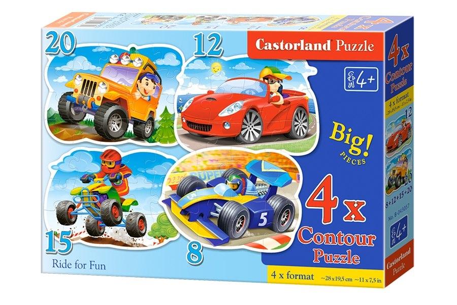 Пазлы Castorland 4х1(8,12,15,20) 043057