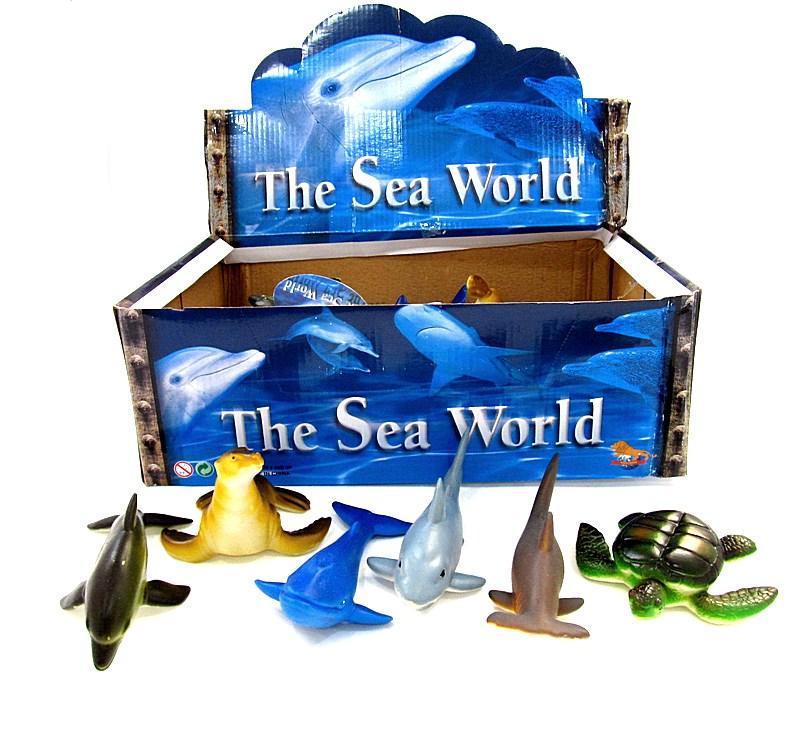Морские животные 24шт в блоке D2823