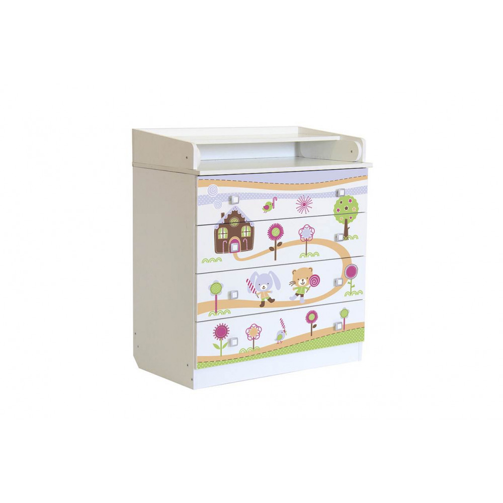 Комод Фея 1580 Пряничный домик белый