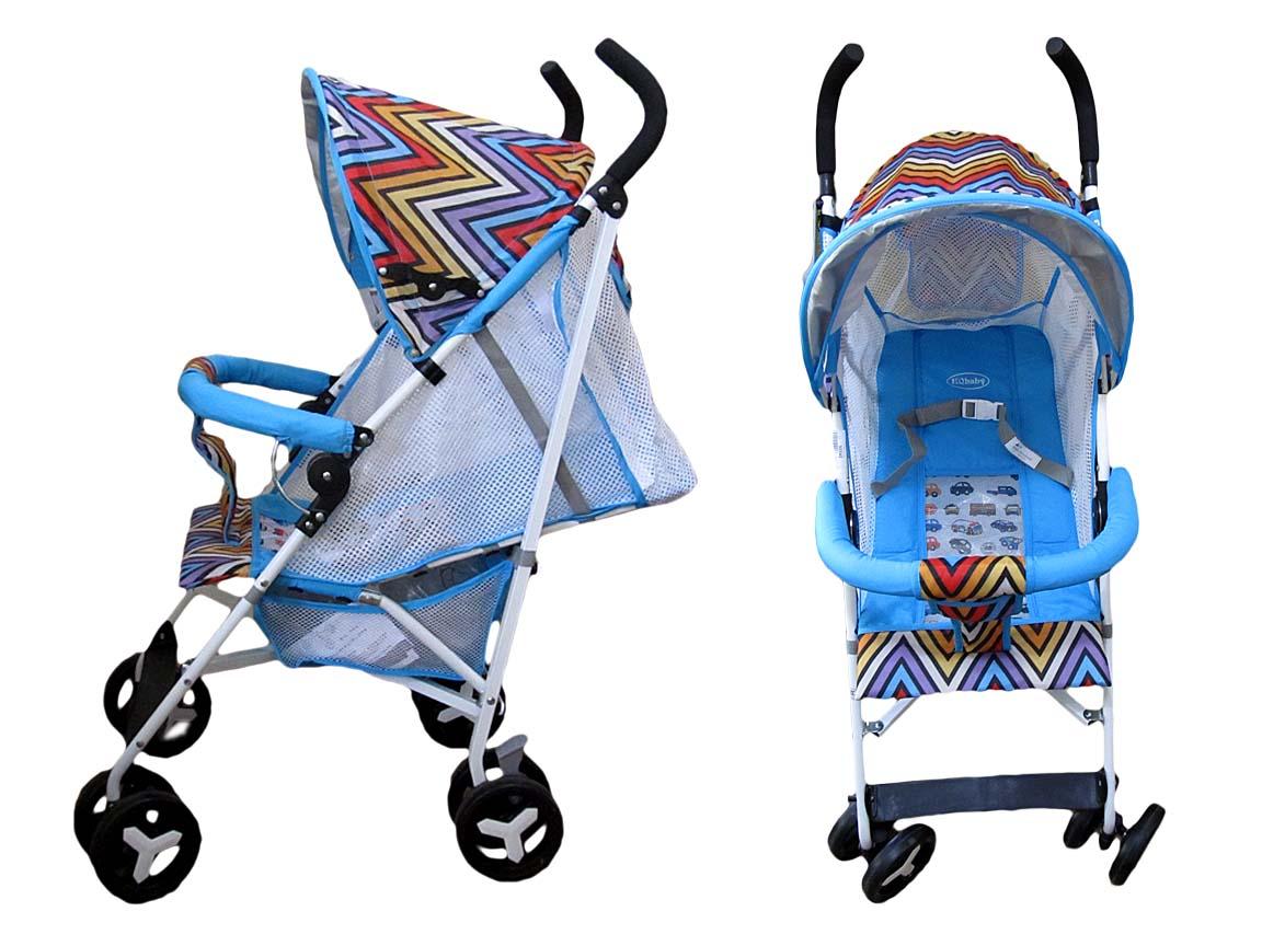 Коляска детская 908W голубая