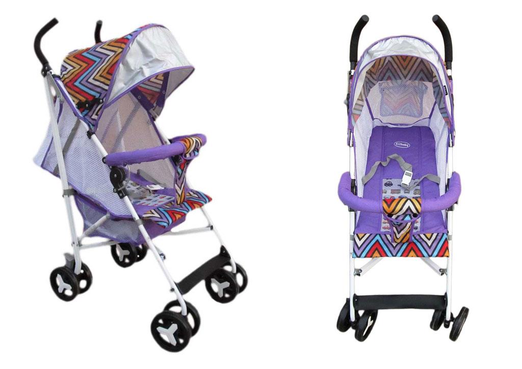 Коляска детская 908-1 фиолетовая