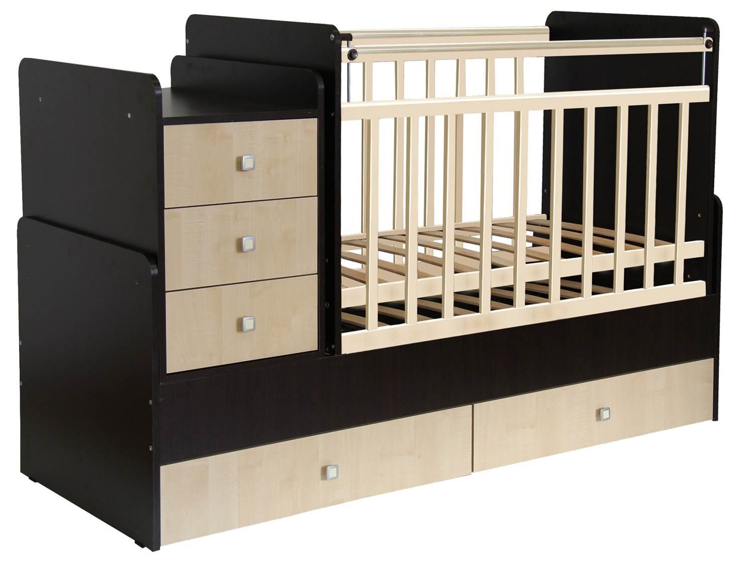 Кровать детская Фея 1100 венге-клён