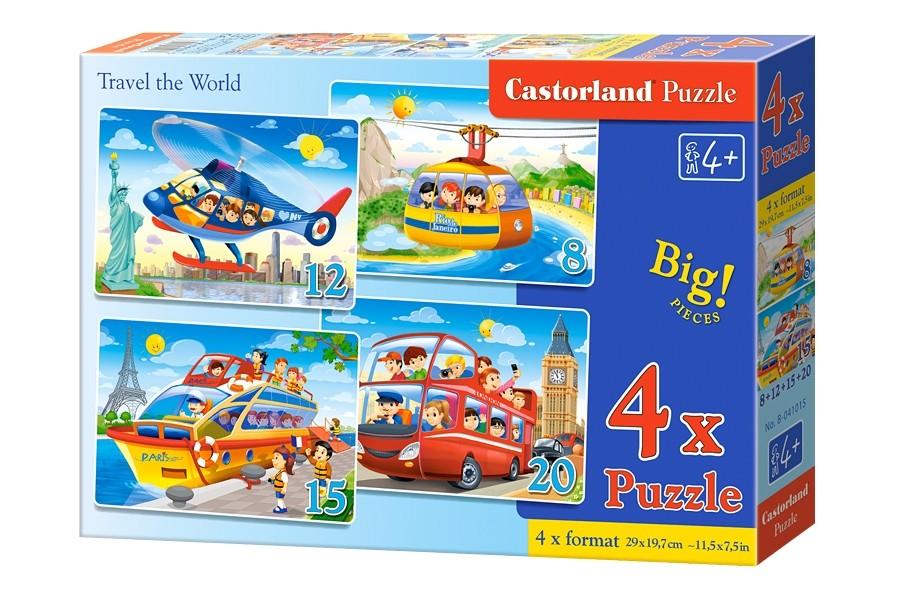 Пазлы Castorland 4х1(8,12,15,20) 041015