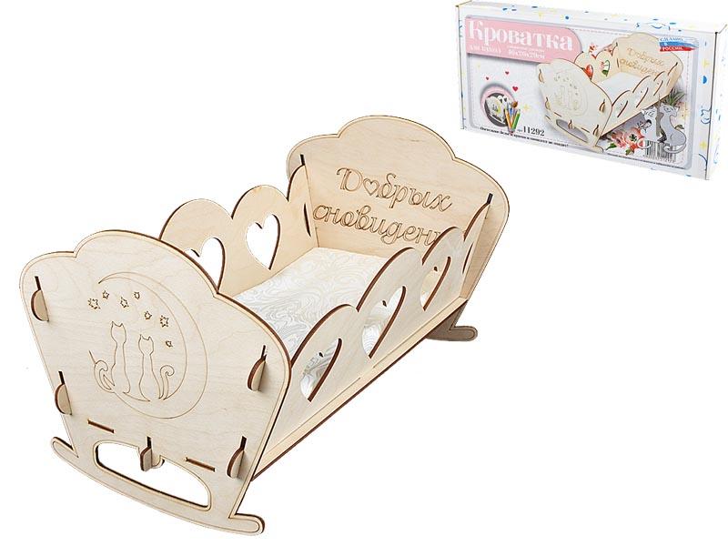 """Кроватка для кукол 11292""""Good dreams cat"""" в подарочной упаковке"""