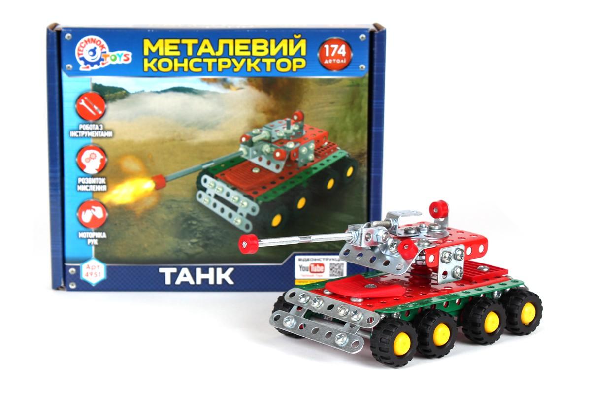 Конструктор метал. ТАНК 4951