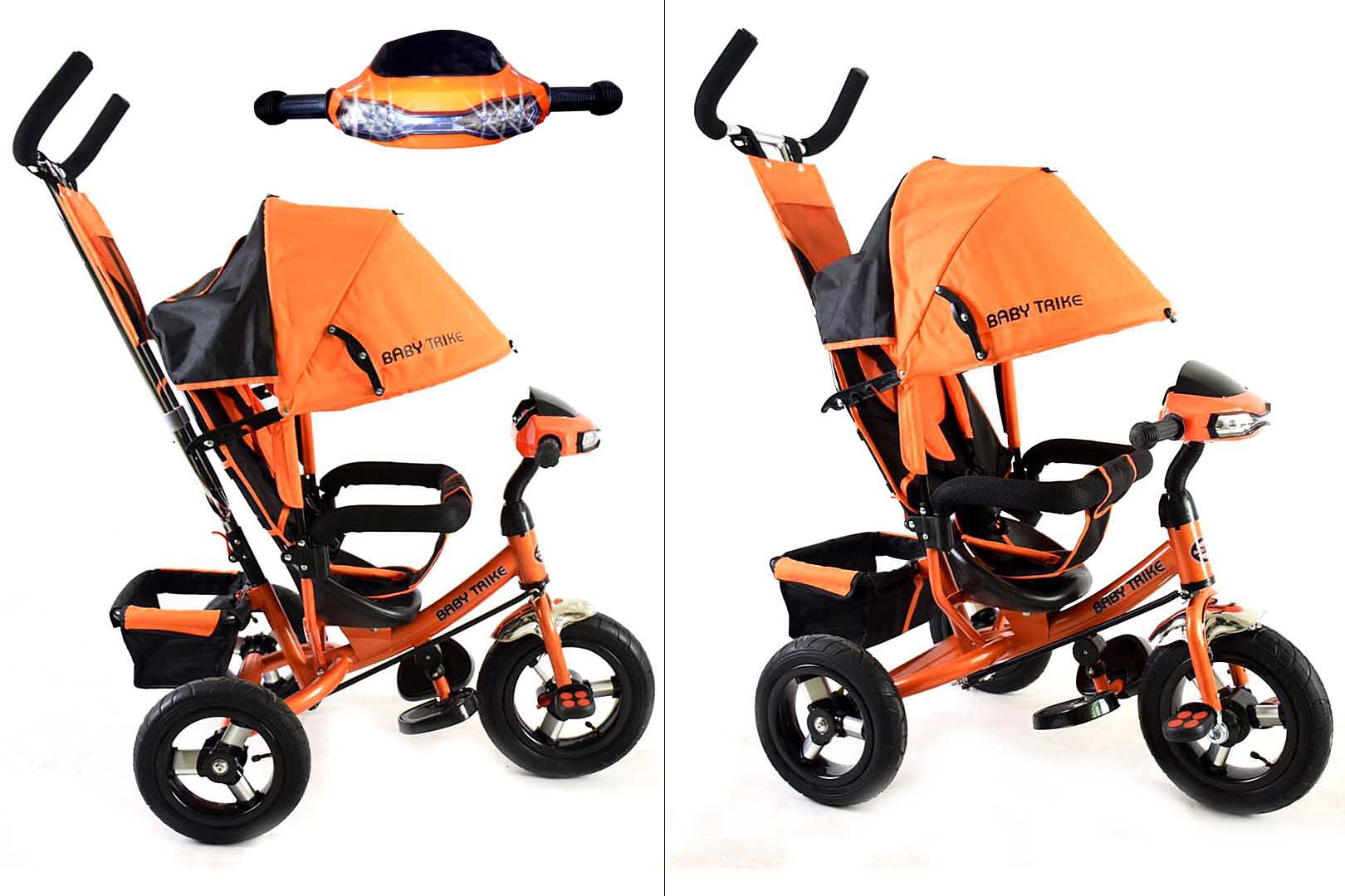 Велосипед 3х колесный YM-CBK-49 Orange (фара, свет,муз)