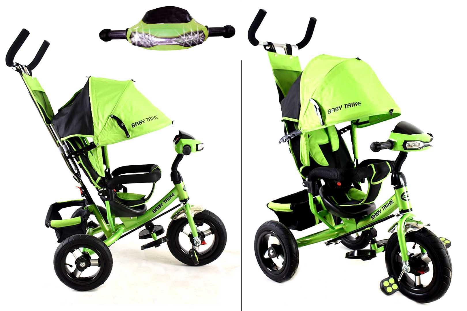 Велосипед 3х колесный YM-CBK-49 Green(фара, свет,муз)