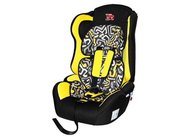 Автокресло детское 9-36 кг. Little Car Brave Isofix лабиринт-желтый 129367