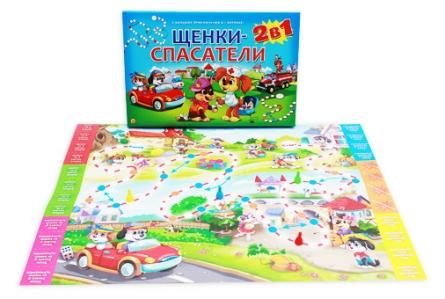 Настольная игра 2 в 1. ЩЕНКИ-СПАСАТЕЛИ (Арт. ИН-7913)