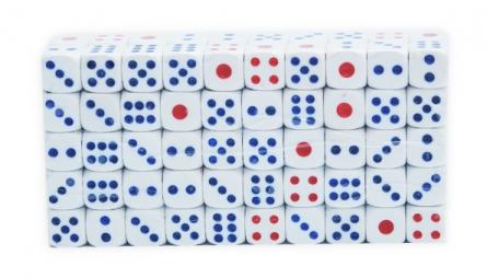 Кубики игральные. 1,5 см. (100 шт. в упаковке) (Арт. КИ-1557)