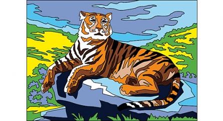 Раскраска песком формат А3 Большой Тигр 8893