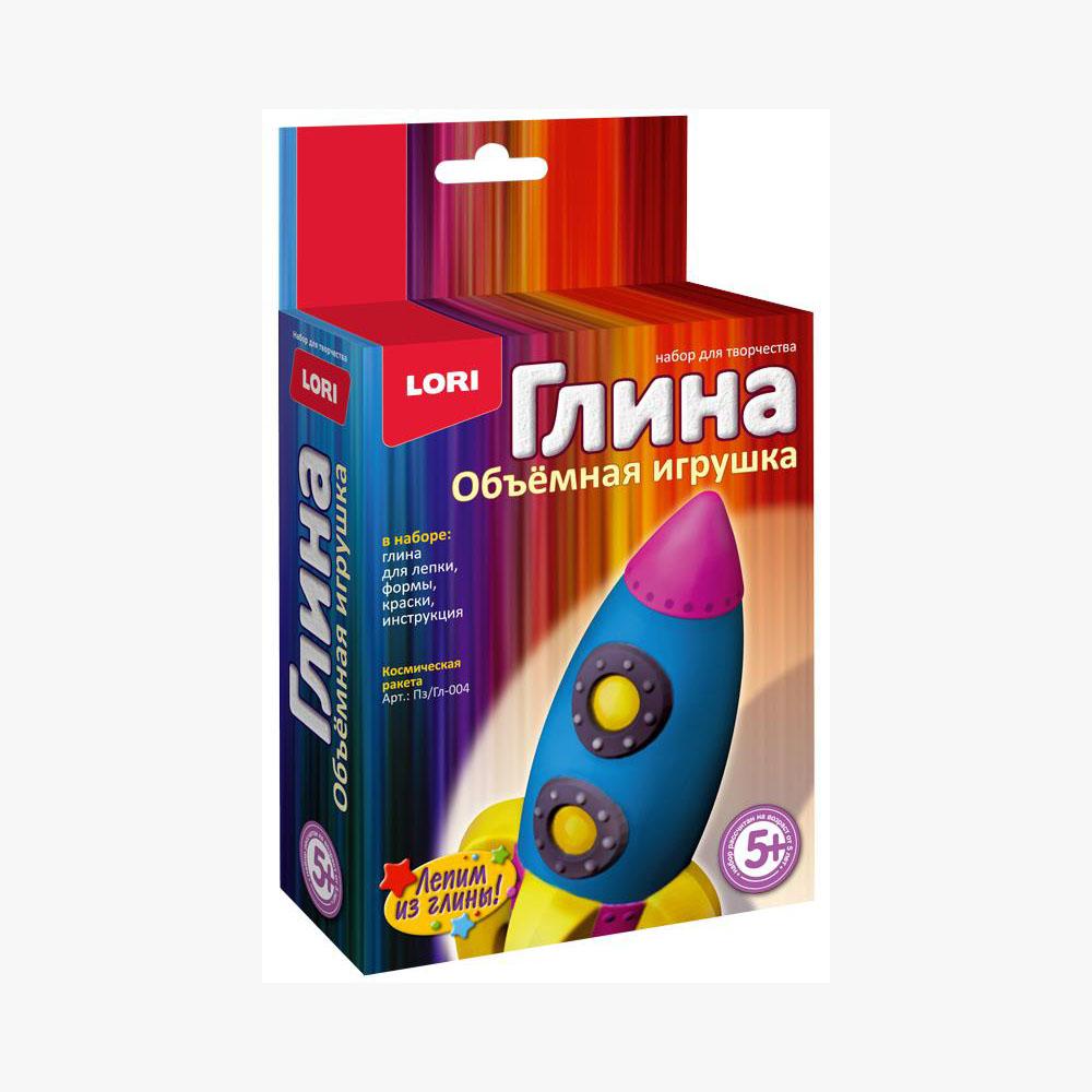 """Игрушка объемная из глины """"Космическая ракета""""Пз/Г-004"""