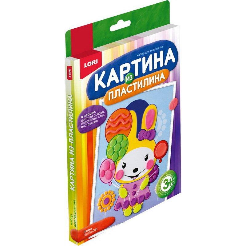 "Картина из пластилина ""Зайка""Пз/Пл-006"