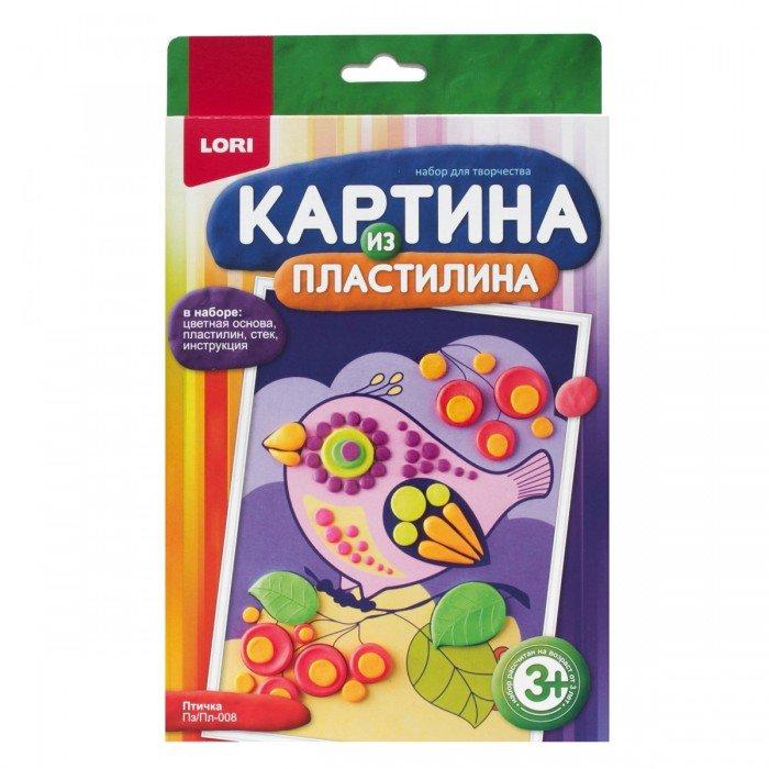 "Картина из пластилина ""Птичка""Пз/Пл-008"