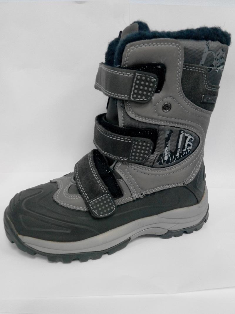 Ботинки мембрана 1212Y мальчик 32-38 серый