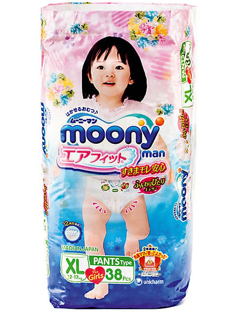 MOONYMAN Трусики для девочек XL 12-17 кг 38 шт