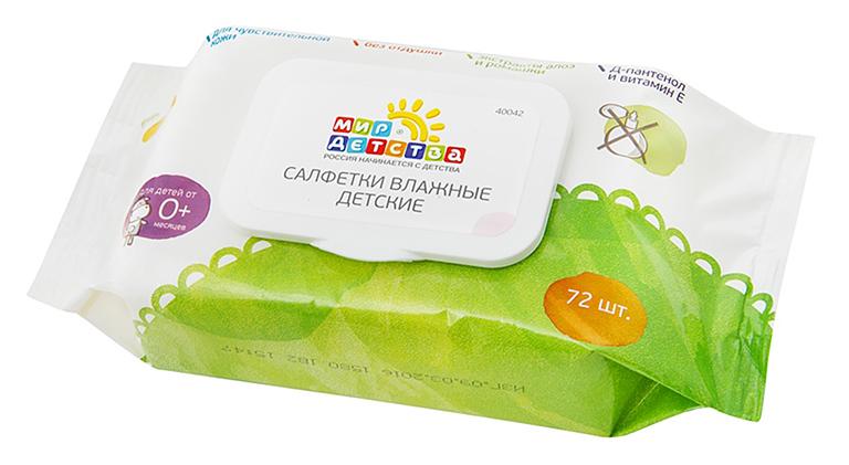 40042 Салфетки влажные детские без запаха, 72 шт.