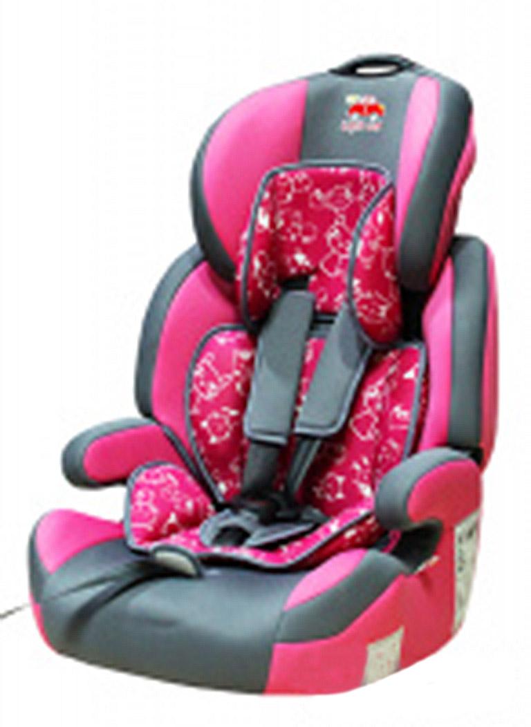 Автокресло детское 9-36кг. Little Car Brave Isofix коты-розовый 129372