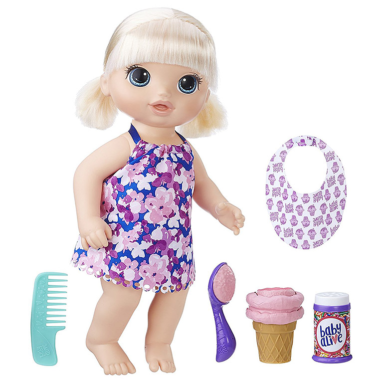 1090 Игрушка кукла Малышка с мороженным