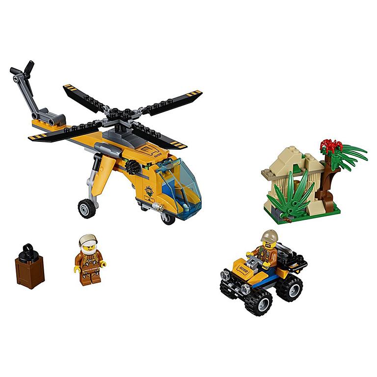 """60158 CITY """"Грузовой вертолёт исследователей джунглей"""""""