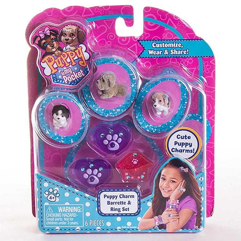48120-R Игрушка Puppy in my pocket украшения с флок.щенками в асс