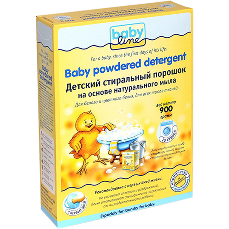 BABYLINE Стиральный порошок на основе  натурального мыла. Концентрат 0,9 кг=3,6 кг=20 стирок