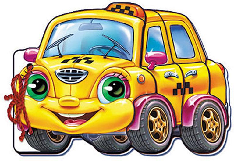 """М333004Р Мягкие машинки, """"Такси"""""""