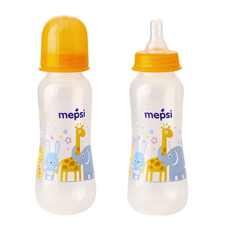 MEPSI 0205 Бутылочка для кормления с силик. соской,250мл, 0+