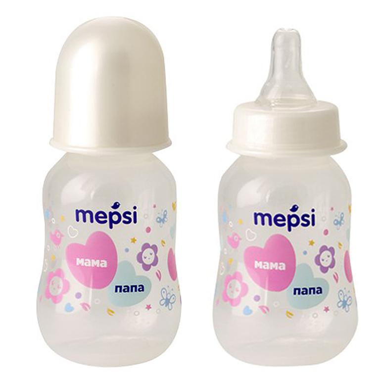 MEPSI 0204 Бутылочка для кормления с силик. соской,125мл, 0+