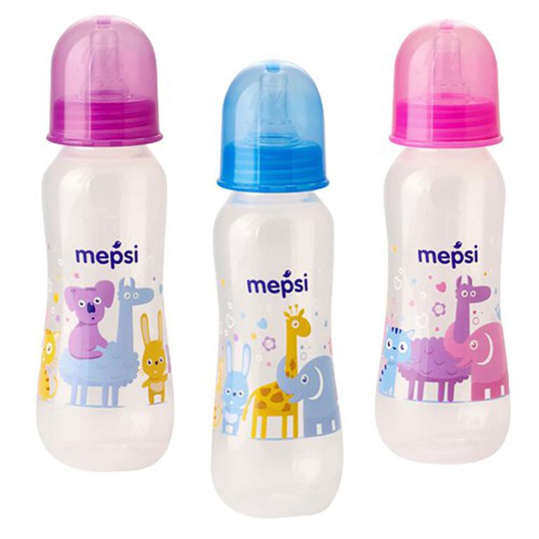 MEPSI 0201 Бутылочка для кормления с силик. соской,250мл, 0+