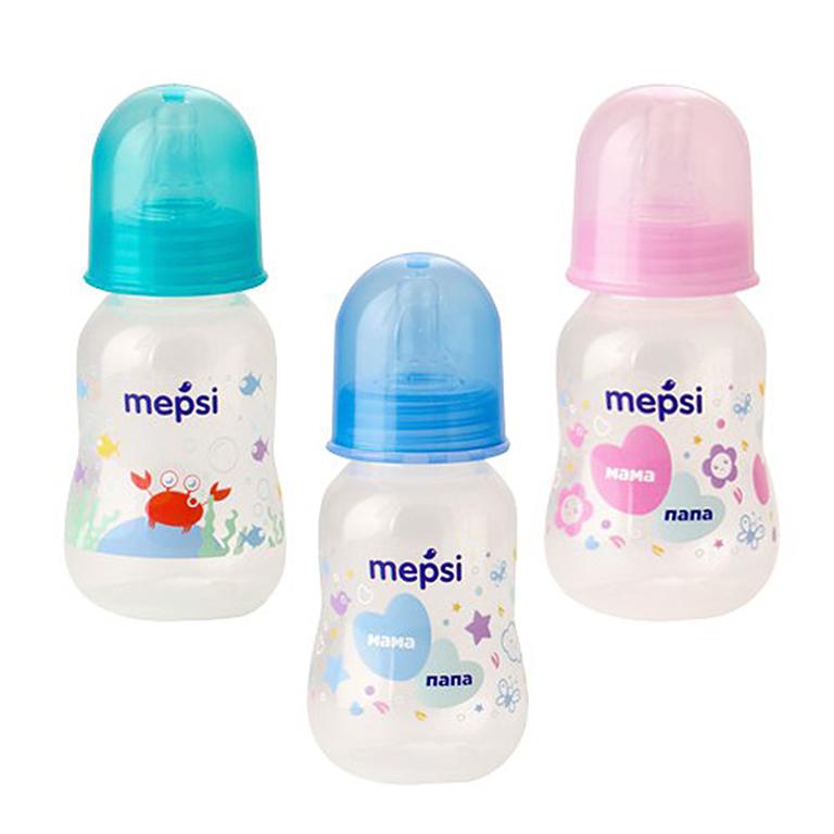 MEPSI 0200 Бутылочка для кормления с силик. соской,125мл, 0+