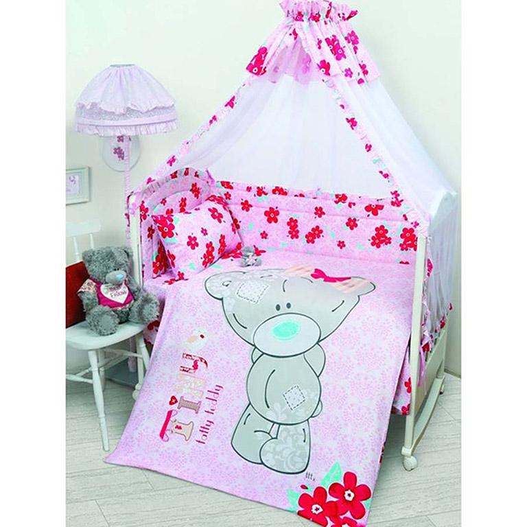 521204 Комплект в кроватку детский (Teddy baby) для девочки