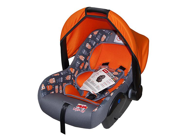 Автокресло детское 0-13кг. Little Car Sweet совы-оранж 126291