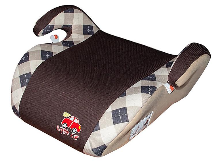 Бустер детский 22-36кг. Little Car Smart клетка-коричневый  125792