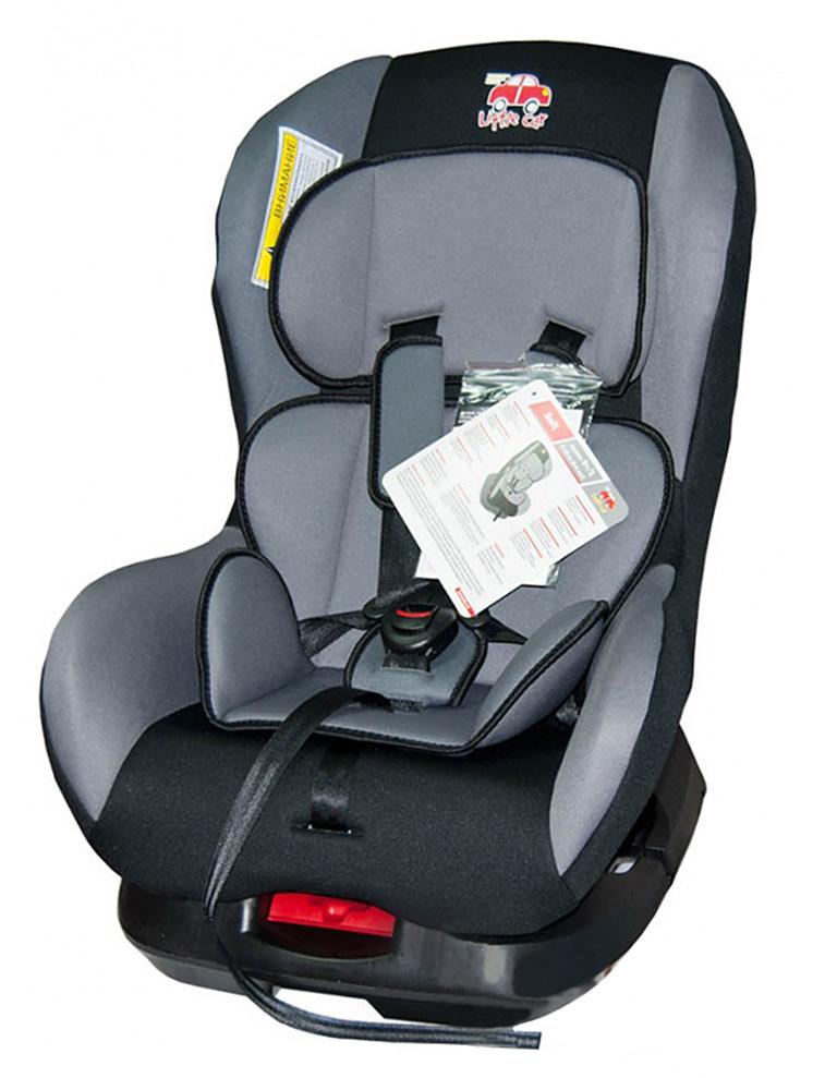 Автокресло детское 0-18кг. Little Car Soft серый 125970