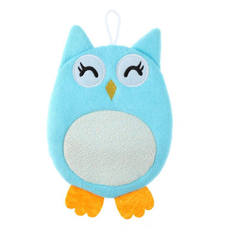 RBS-003 Махровая мочалка-рукавичка Baby Owl