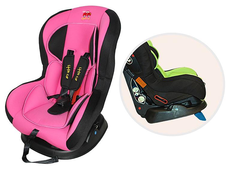 Автокресло детское 0-18кг. Little Car LB-383  розовый