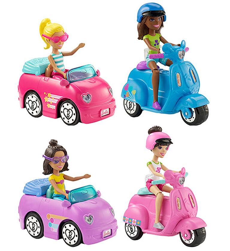 """FHV76 BARBIE """"В движении Автомобиль и кукла в асс."""""""