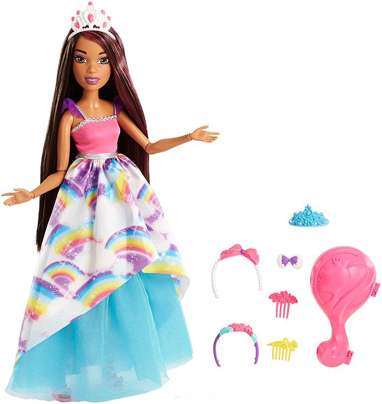 FXC81 BARBIE Большие куклы с длинными волосами брюнетка