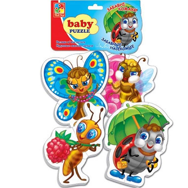 VT1106-06 Игр. н-р Мягкие пазлы Baby puzzle Насекомые