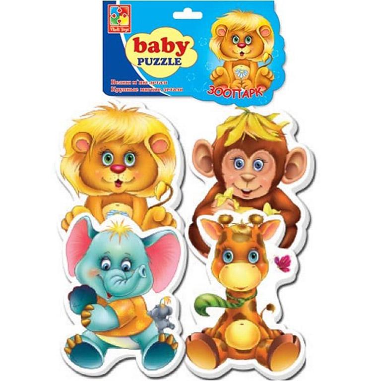 VT1106-10 Игр. н-р Мягкие пазлы Baby puzzle Зоопарк