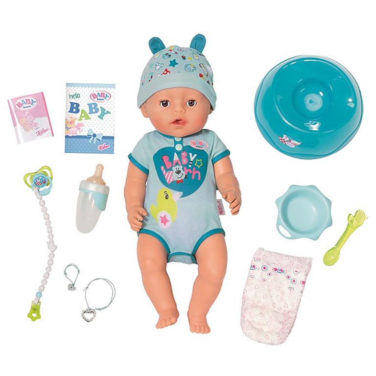 824-375 BABY born Кукла-мальчик Интерактивная, 43 см