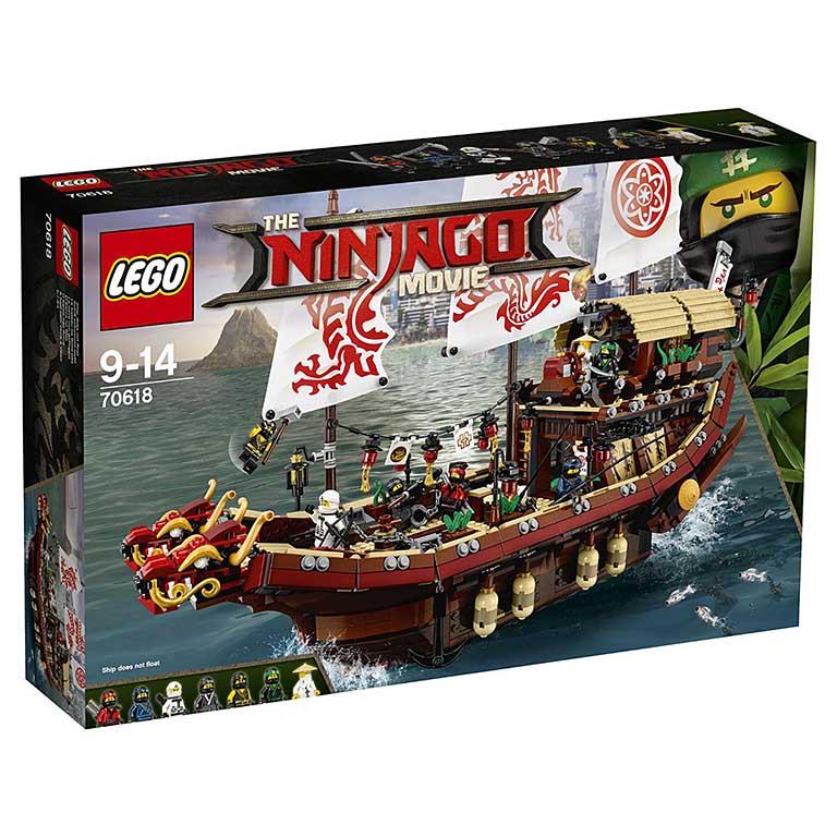 "70618 Ninjago ""Летающий корабль Мастера Ву"""